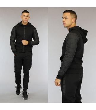 NEW0110 Zwart Heren Trainingspak met Comfy Vest