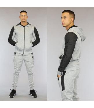 NEW0110 Grijs Heren Trainingspak met Comfy Vest
