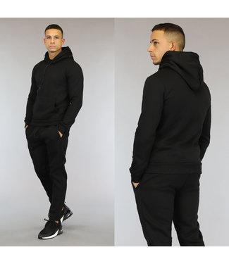 NEW0110 Comfy Zwart Heren Huispak met Hoodie
