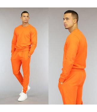NEW1510 Basic Oranje Katoenen Heren Huispak