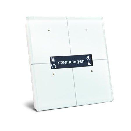Velbus Velbus Witte glazen bedieningsmodule met oledscherm.
