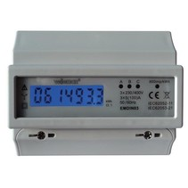 Velbus 3-phase kwh meter 100A for din rail