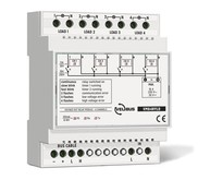 Velbus 4-channel relay module with voltage outputs