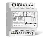 Velbus 4-kanaals relaismodule met spanningsuitgangen