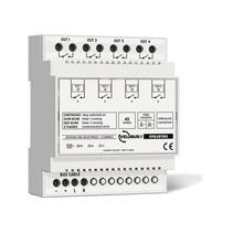 Velbus 4-kanaals relais,  potentiaalvrije contacten