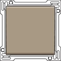 afwerkingsset, Bronze, enkele toets, 123-61105