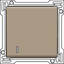 afwerkingsset met lens, Brons, 123-60005