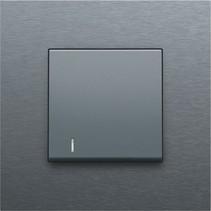 afwerkingsset met lens, Alu Look Grey Steel, 220-60005