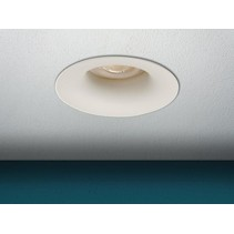 Built-in fixture GU10, rounded, color white