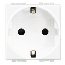 Living light schuko socket, white
