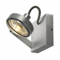 KALU 2, aluminium geborsteld, enkelvoudig