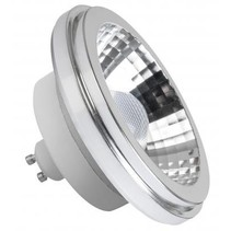 LED AR111-GU10 lamp, dimmable warm white, M08257