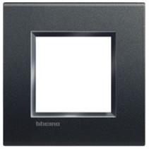 Living light afdekplaat 2 modules, antraciet