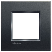 Living light cover plate 2 modules, anthracite