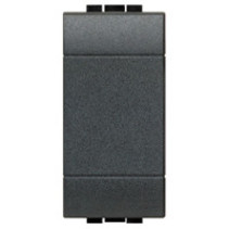 Living light blind plate 1 modules, anthracite