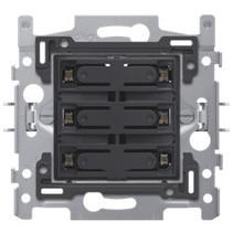 6-voudige drukknop blauwe LED - 170-60160