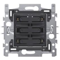 4-fold push button blue LED - 170-40160