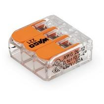 Verbindingsklem compact 3 aansluitingen, per stuk