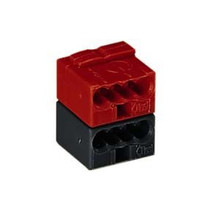 Bus connection terminal red-black, per piece