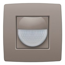 Home control motion detector, color greige