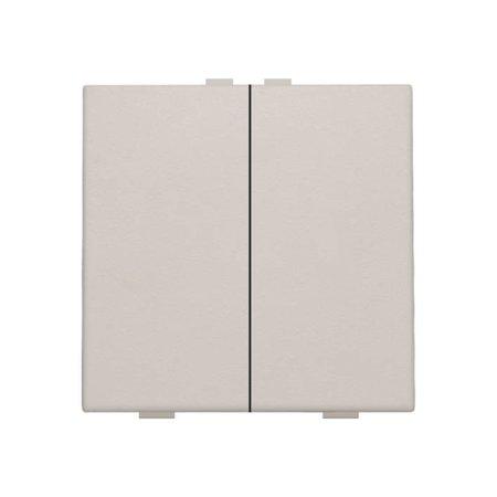 Niko Tweevoudige drukknop voor Niko Home Control, Light grey