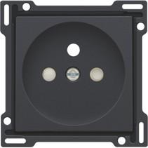 Afwerkingsset voor standaard stopcontact, black coated