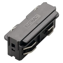 3-phase rail Eutrac straight connection, black