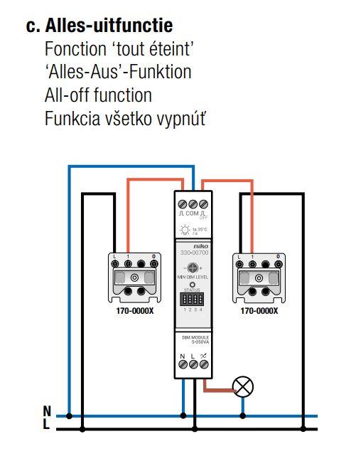 Niko Modulaire Led Dimmer 5 350 Watt 330 00700