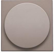 Central plate, Greige, universal dimmer