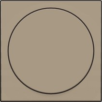 Central plate, Bronze, universal dimmer