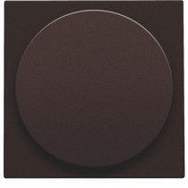 Central plate, Brown, universal dimmer