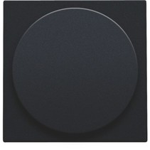 Centraalplaat, black coated, universele dimmer