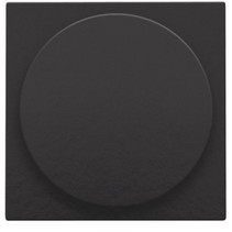 Centraalplaat, piano black, universele dimmer