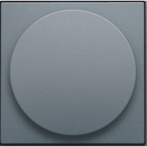 Centraalplaat, alu grey coated, universele dimmer