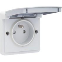Waterbestendig stopcontact grijs 700-36605