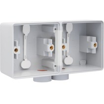 Tweevoudige doos met kabelinvoer 2 x M20 700-84802