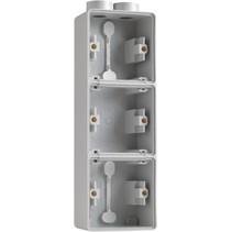 Drievoudige doos met kabelinvoer 2 x M20 700-84302