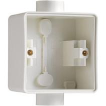 Enkelvoudige doos met kabelinvoer wit - 701-84111
