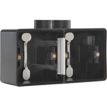 Tweevoudige doos met kabelinvoer 2 x M20 761-84802