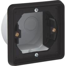 Single flush mounting frame, black 761-73000
