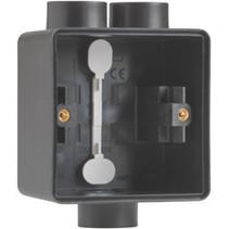 Enkelvoudige doos met kabelinvoer 2+1 x M20 zwart 761-84112