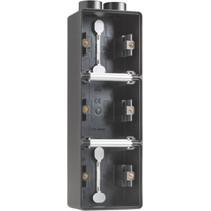 Drievoudige doos met kabelinvoer 2 x M20 761-84302