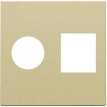 afwerkingsset, alu gold coated, TV-UTP, 221-65702