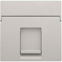 afwerkingsset, grijs, enkelvoudige datacontactdoos, 102-65100