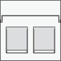 afwerkingsset, White Steel, tweevoudige datacontactdoos, 154-65200