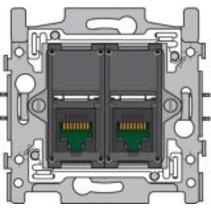 Sokkel tweevoudig RJ45 UTP Cat5e 170-65152