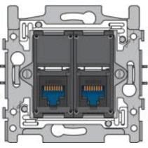 RJ45 UTP Cat6 double socket 170-65162