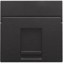 afwerkingsset, Piano zwart, enkelvoudige datacontactdoos, 200-65100