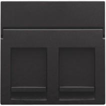 afwerkingsset, Piano Zwart , tweevoudige datacontactdoos, 200-65200