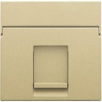 afwerkingsset, Alu look Gold, enkelvoudige datacontactdoos, 221-65100